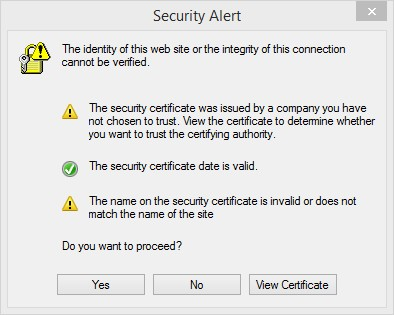 Security Certificate Problems? - Synology Forum